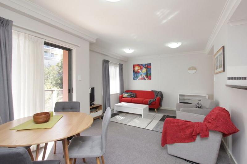 Perth City Apartment LOUNGE/DINNING WITH SLIDING DOOR TO BALCONY