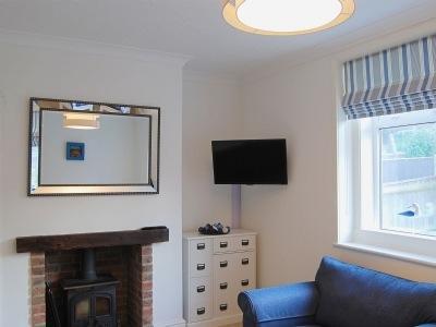 Lounge, with wood burner