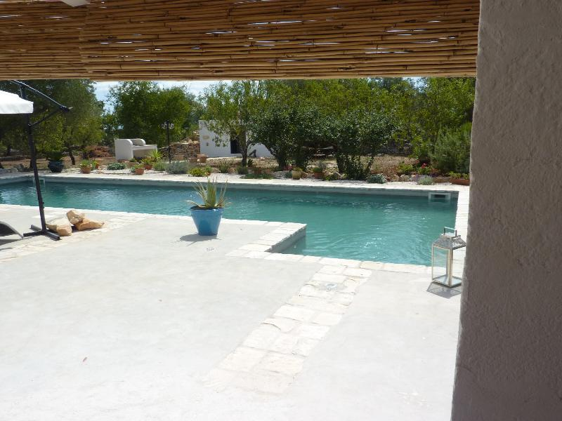Swimming pool and gazebo back of the property