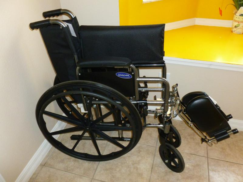 Very confortable and light wheelchair if you need to go to the parks