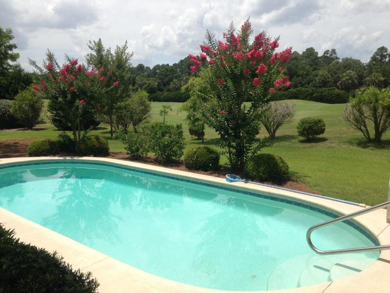 Private pool and sweeping views of #7 hole of Robert Trent Jones golf course