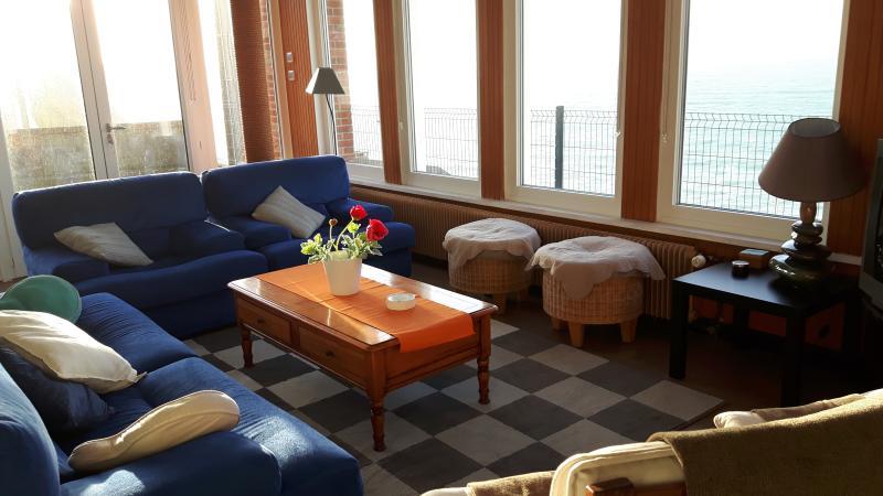 Vue mer panoramique 180°, location de vacances à Fecamp