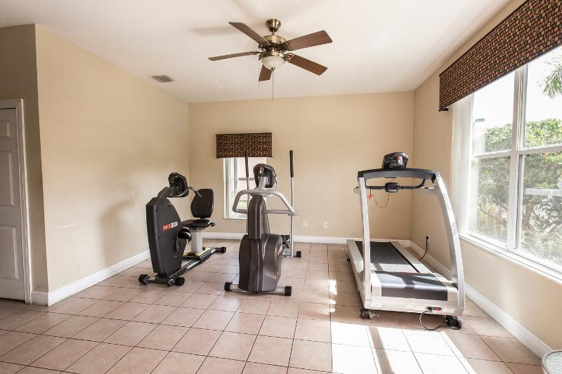 Fitness room. One of the free on-site amenities.