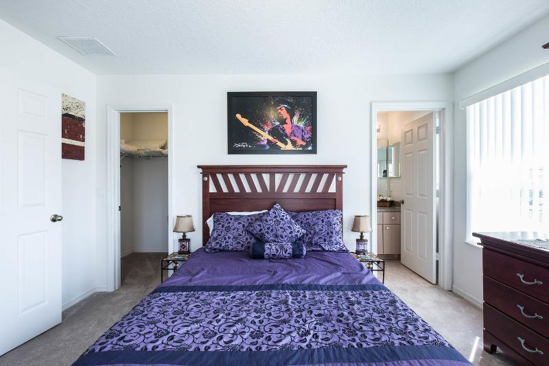 The upstairs master bedroom suite with a Jimi Hendrix theme.