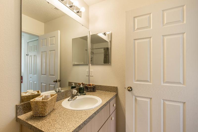 Like all the other bathrooms the Family bathroom has plenty of storage space.