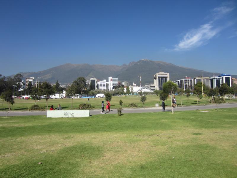 Parque La Carolina, just around the corner