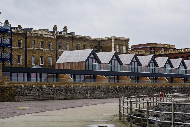 Recently built Beach Houses on The Royal Seabathing complex
