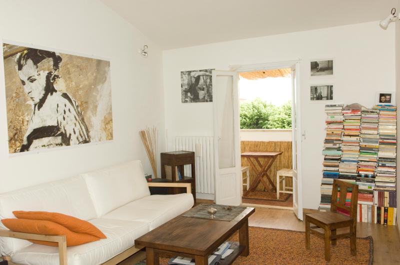 Living room + small balcony