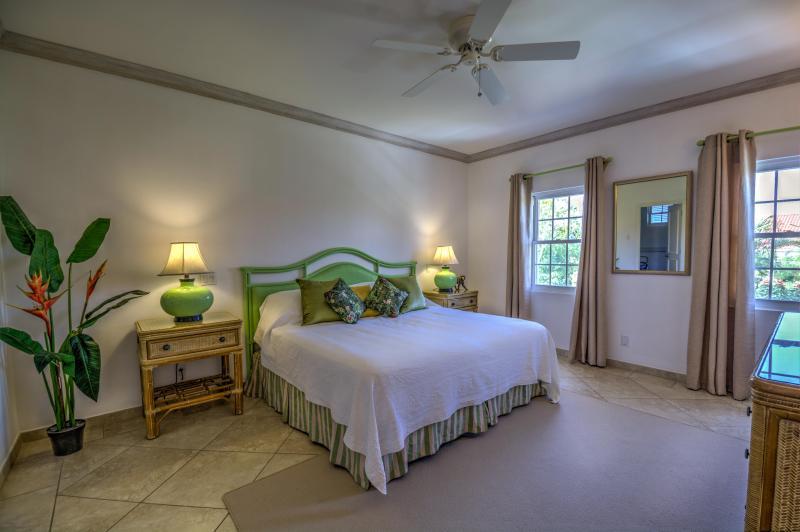 Bedroom 1, providing a luxury tropical feel