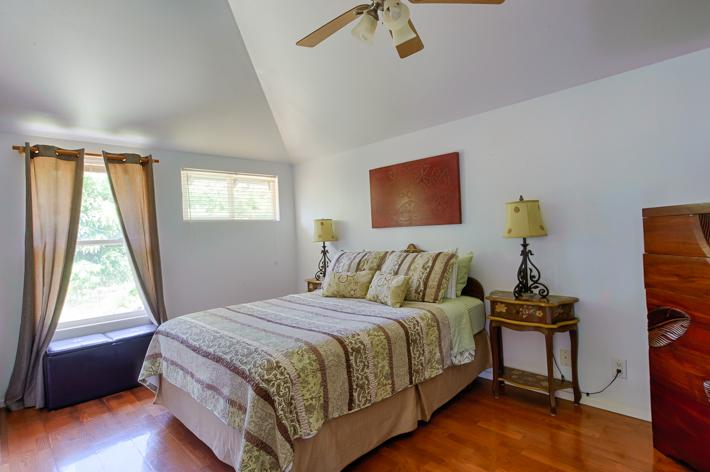 First bedroom with queen bed.  A window a/c was added to this room after the pictures were taken.