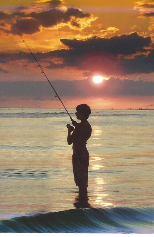 Even if he doesn't catch anything but the sunset it will be worth the wait!