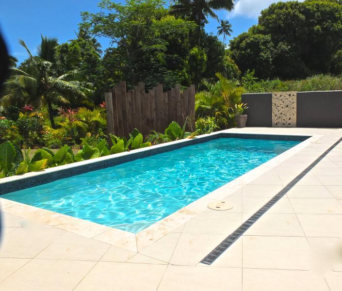 Private refreshing salt water pool