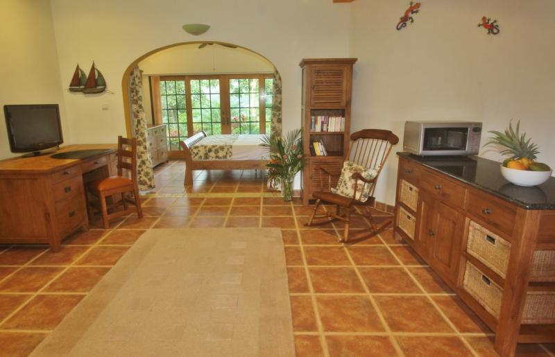 Nearly 60ft long, the Pool House is spacious, very private and luxuriously furnished throughout