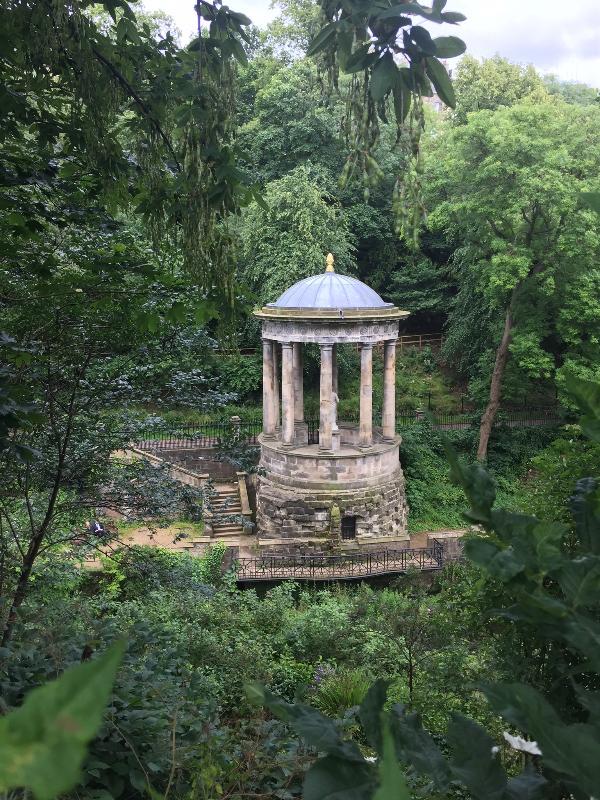St Bernard's Well, a minute walk from the apartment