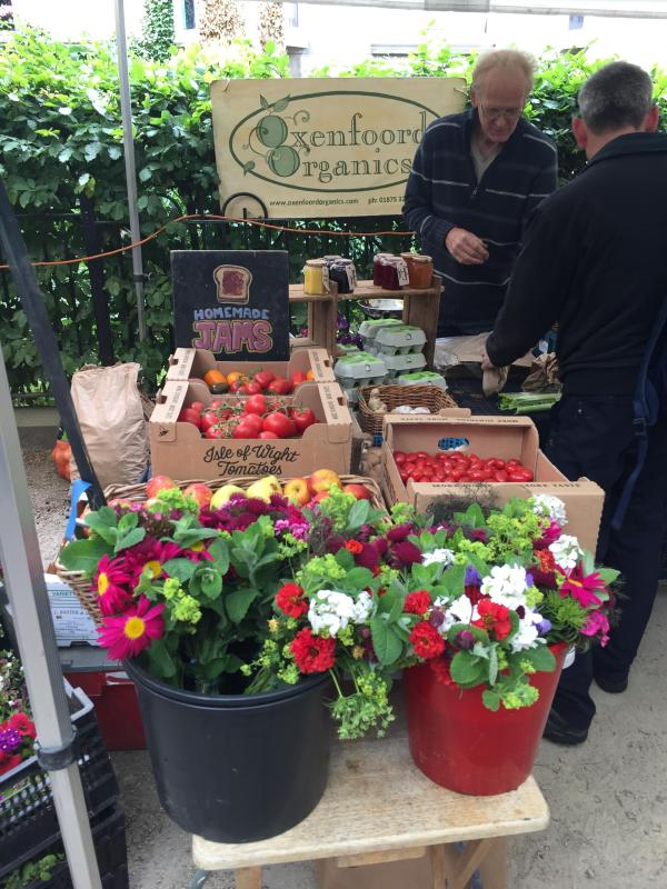 One of the many stalls at the thriving Stockbridge Sunday Farmers' Market