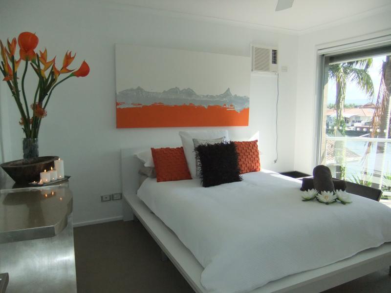 Queens bedroom with waterviews