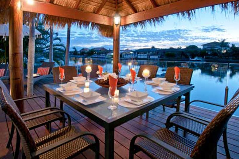 Dining in the Cabana
