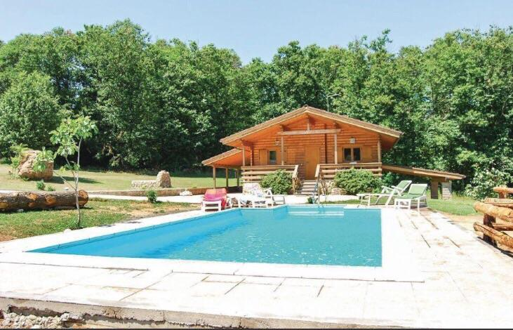 The chalet and the swimming pool