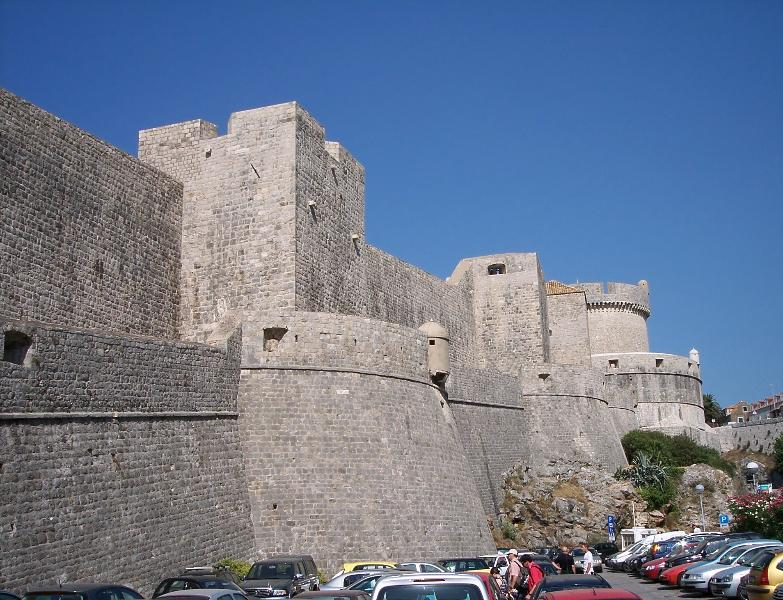 City walls and parking