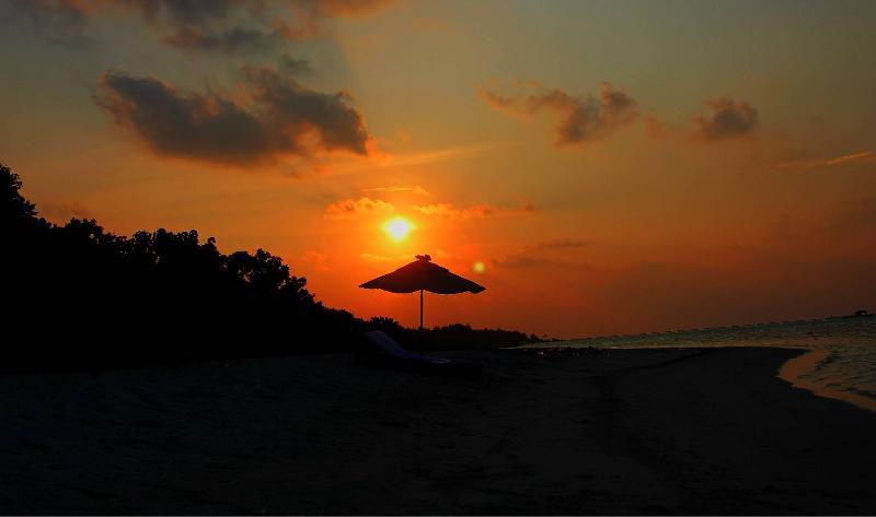 Sunset View at Maamigili Island Beach