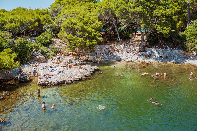 Beach at Lokrum island