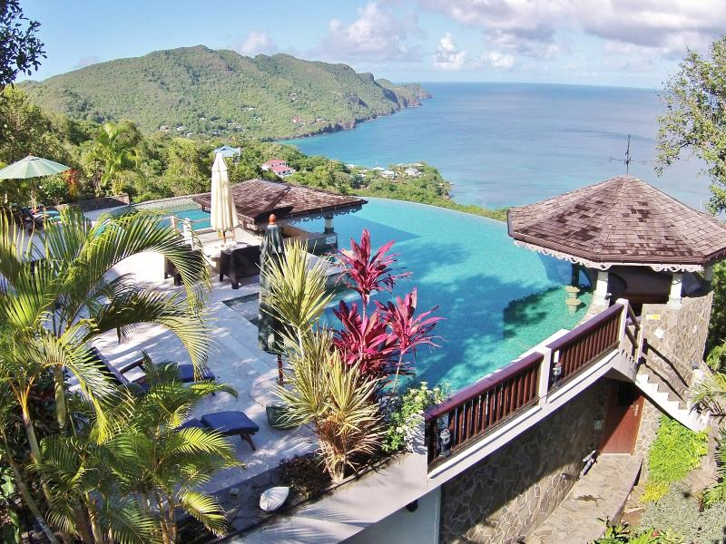 The Infinity Pool has dramatic views overlooking the Caribbean Sea