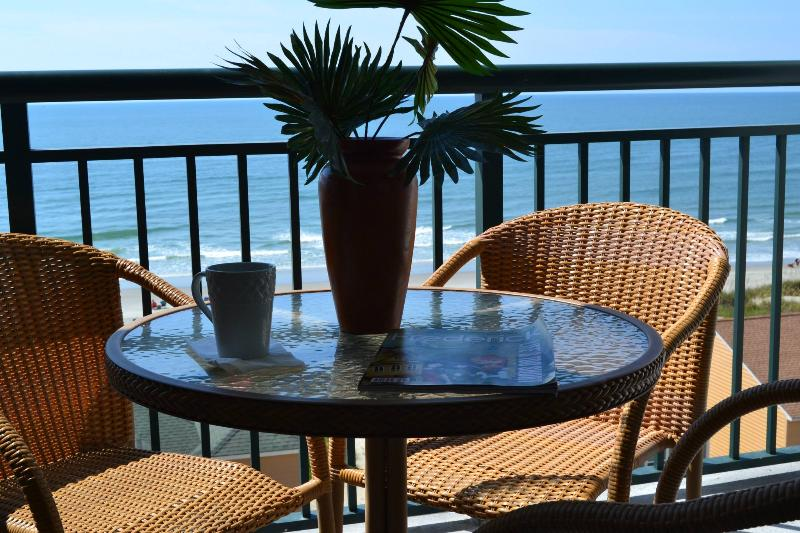 Wake up with coffee on the balcony