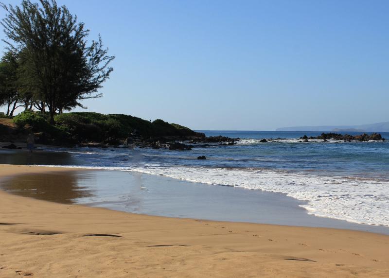Kamaole II Beach (looking south).  Snorkeling with Turtles!