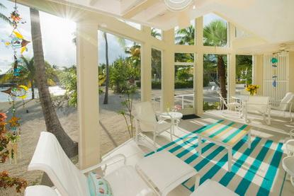 Two-story lanai with balconies provides stunning views.