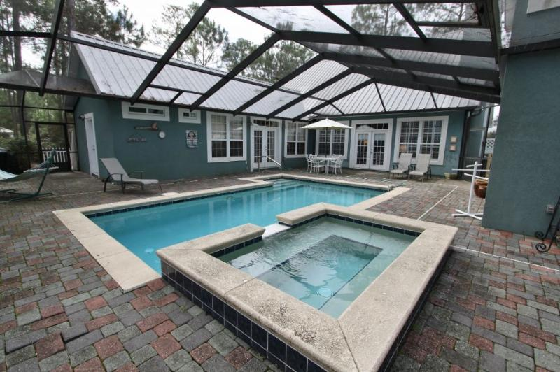 Pool is Surrounded by the House - Very Private