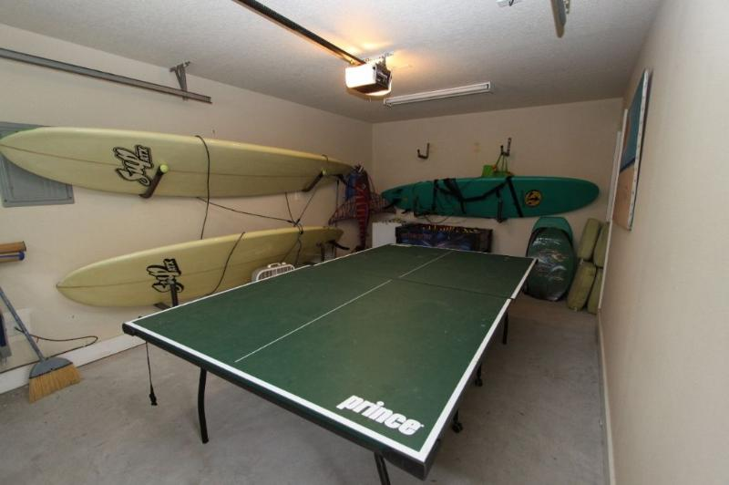 Ping Pong and Foosball in the Garage