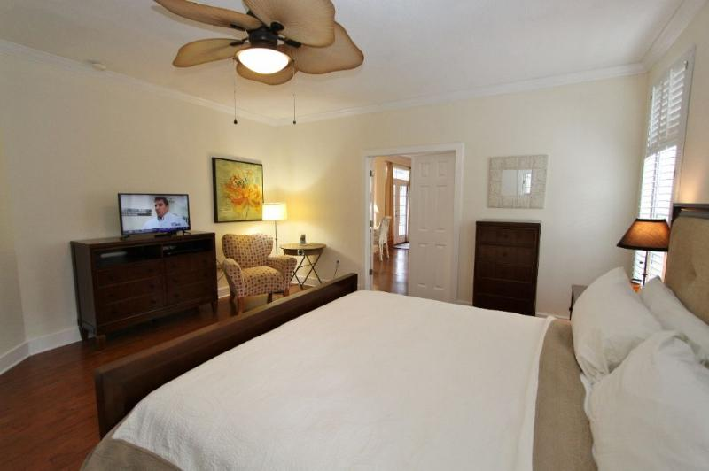 Master Bedroom Towards the TV and Dressers