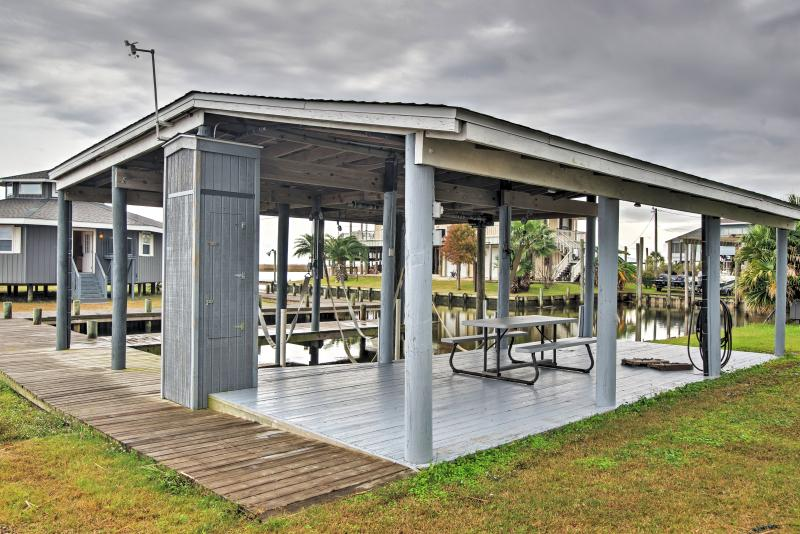 You'll have shared access to the private boat dock, which boasts 2 boat slips.