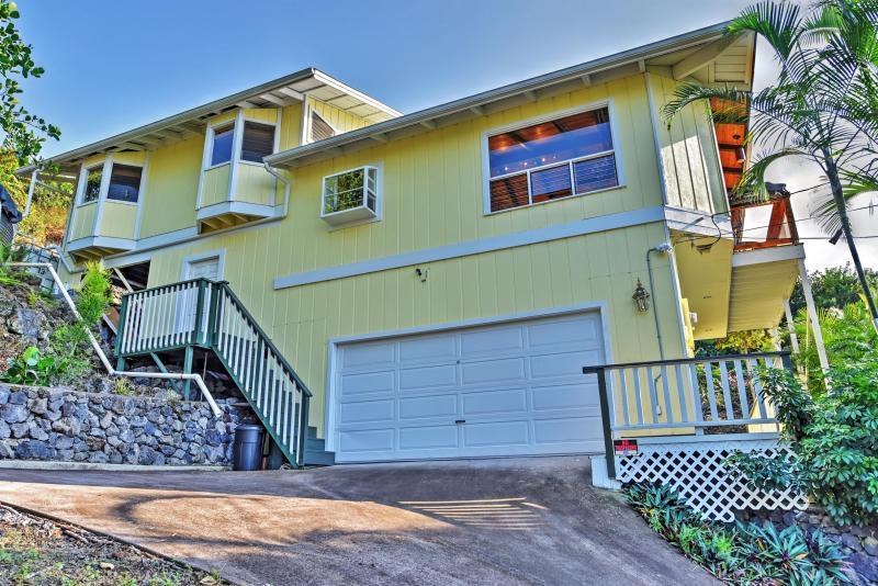 Que ce remarquable location de vacances capitaine Cook servir à la maison comme votre propre oasis personnelle pendant votre séjour à Hawaii!