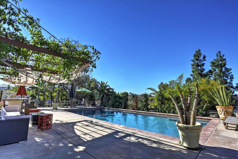 Look forward to lounging by the private swimming pool.