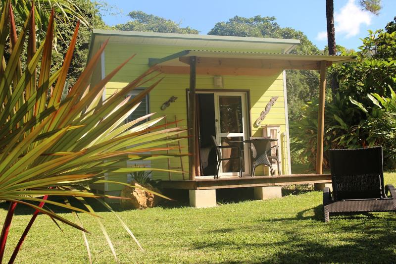 Your bungalow in our lush garden for your stay in New Caledonia.