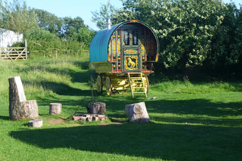 The Famous Five gypsy caravan. Resting peacefully in her apple orchard in Somerset.