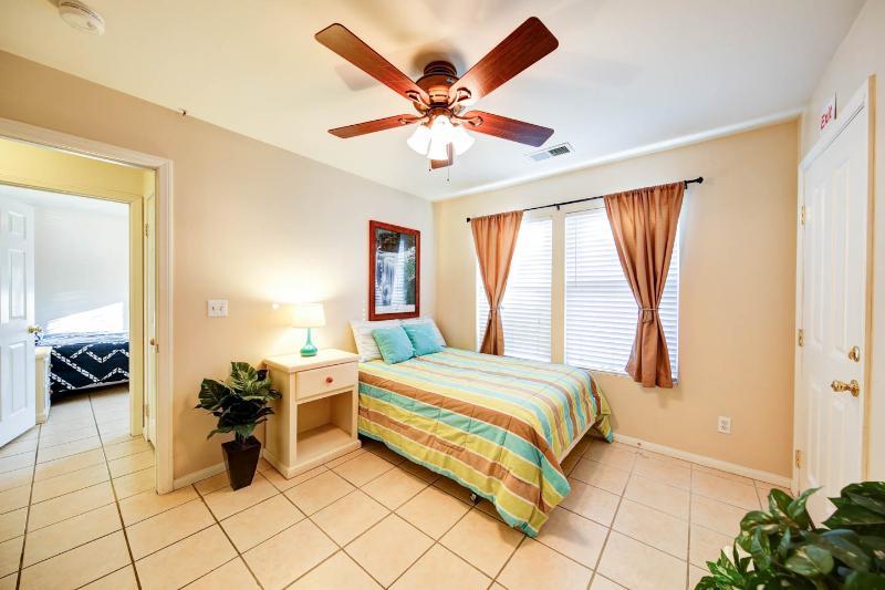 4th bedroom with full bed. wider door way opening.