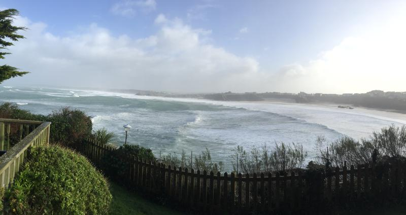 Storm Imogen hits the North Coast, as seen from the deck at Seaside.