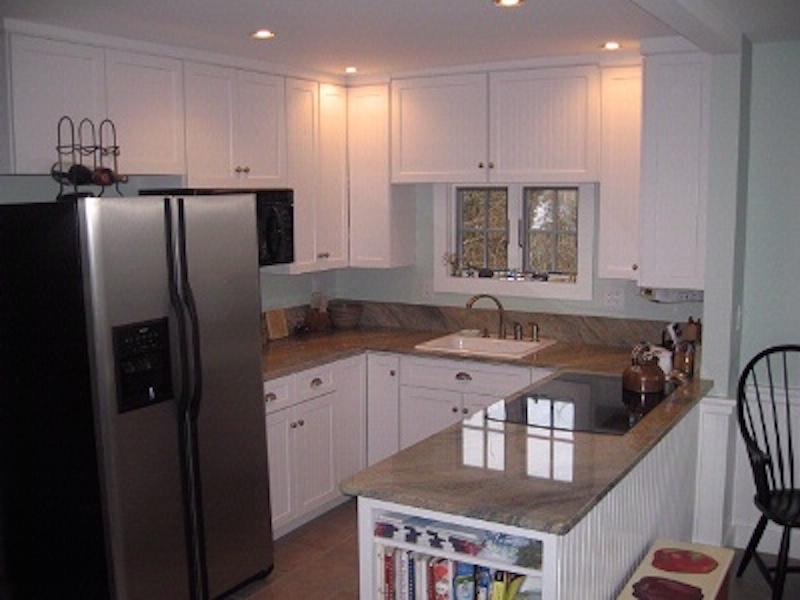 Kitchen with easy access to deck