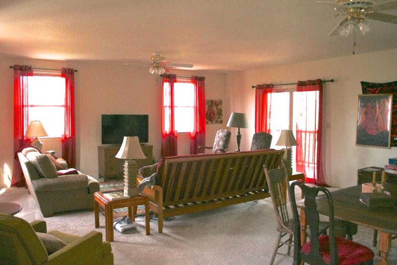 Family room, game table, 50' TV
