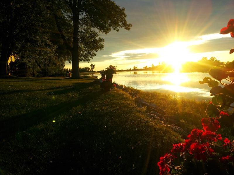 Enjoy beautiful, tranquil evening views  on the deck!