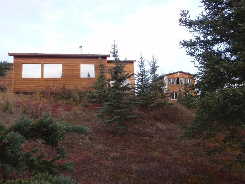 There is a second rental house (sleeps 12) on our property. Your cabin is on the right.