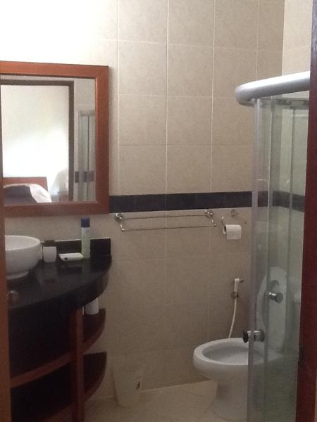 Ensuite with shower in 1st bedroom.