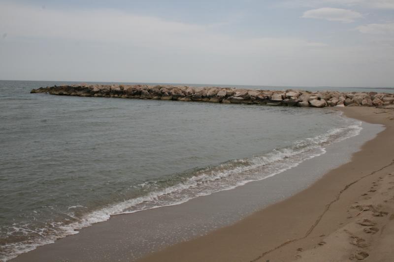 plage libre devant les îles Tremiti