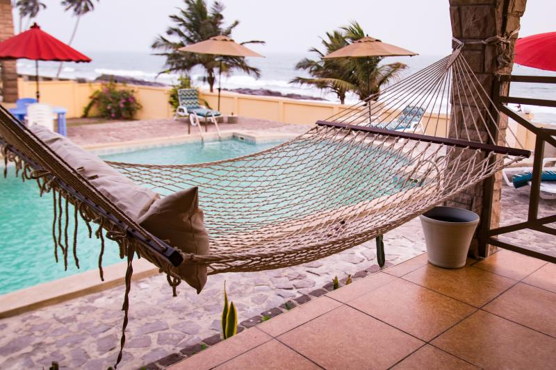 Take in a view of the ocean as you relax