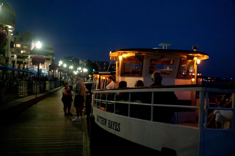 Potomac Water Taxi, $8/one-way across to Old Town Alexandria and back ~ beautiful scenic ride