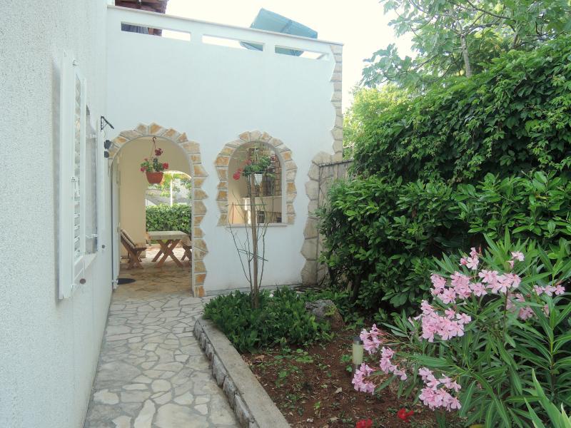 Small garden next to the house