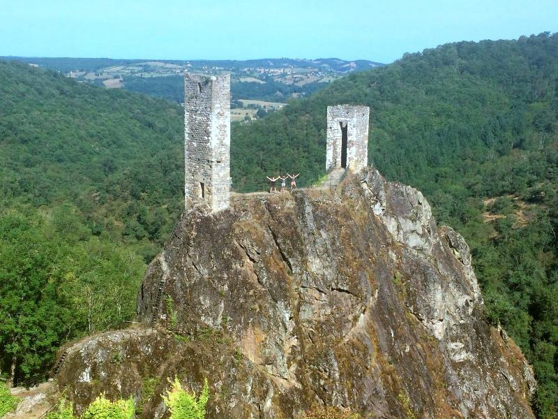 The twin towers of Peyrusse Le Roc, only 15 mins away.