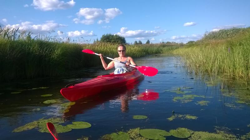 Canoeing on the river of our lake. Two kayaks for rent. 60€/weekend or 120€/week/kayak.